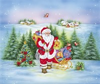 Santa Lights The Forest by DBK-Art Licensing - various sizes, FulcrumGallery.com brand