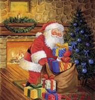 Santa's Christmas Blues Fine Art Print
