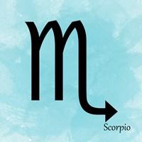 Scorpio - Aqua Fine Art Print