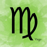 Virgo - Green Framed Print