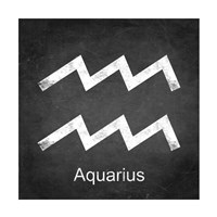 Aquarius - Black Fine Art Print