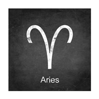 Aries - Black Framed Print