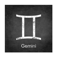 Gemini - Black Framed Print