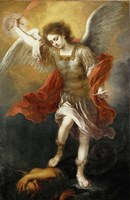 Archangel Michael Hurls the Devil into the Abyss, c. 1665-1668 Framed Print