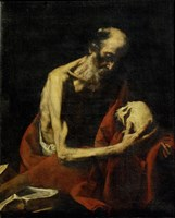 Saint Jerome Meditating Fine Art Print