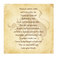 Taurus Character Traits Framed Print
