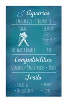 Aquarius Zodiac Sign Fine Art Print