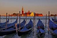 Gondolas at Sunset Fine Art Print
