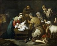 The Adoration of the Shepherds, 1655-1660 Fine Art Print