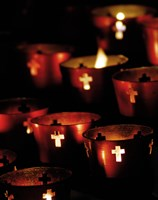 Lighted Candles Fine Art Print