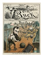 Puck Magazine Jay Gould's Private Bowling Alley Fine Art Print