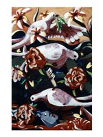 Untitled (Birds and Flowers) Fine Art Print