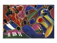 Jazz Singer Fine Art Print