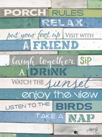 Porch Rules Fine Art Print