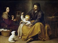 The Holy Family with a Small Bird Fine Art Print