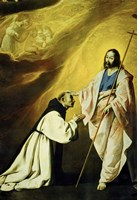 The Apparition of Jesus Christ (Vision of Brother Andrés Salmerón) Fine Art Print