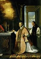Holy Mass with Priest Cabañuelas. 1638 Fine Art Print