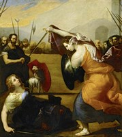The Duel of Isabella de Carazzi and Diambra de Pottinella Fine Art Print
