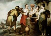 Rebekah and Eliezer by Bartolome Esteban Murillo - various sizes