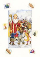 Santa's Christmas Visit by DBK-Art Licensing - various sizes