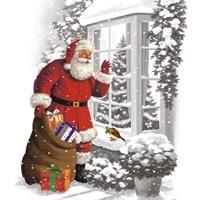 Santa's Gift Arrival Fine Art Print