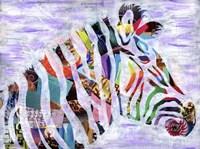 Purple Zebra Fine Art Print