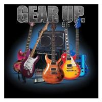 "Gear Up Guitars by Jim Baldwin - 26"" x 26"""