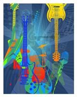 """24"""" x 30"""" Guitar Art"""