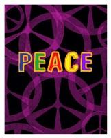Peace (magenta/black) Fine Art Print