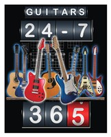 Guitars 24-7, 365 Framed Print