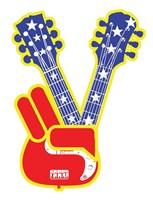 "Guitar Peace by Jim Baldwin - 26"" x 34"""