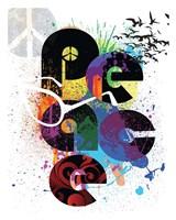 "Peace Love Happiness by Jim Baldwin - 24"" x 30"""