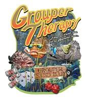 "Grouper Therapy by Jim Baldwin - 26"" x 30"" - $34.49"