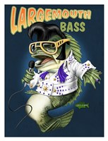 "Largemouth Bass by Jim Baldwin - 26"" x 34"""