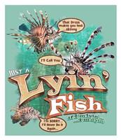 "Lyin'  Fish by Jim Baldwin - 26"" x 30"""