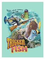 "Trigger Fish by Jim Baldwin - 26"" x 34"""