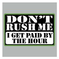 """Don't Rush by Jim Baldwin - 26"""" x 26"""" - $29.99"""