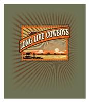 """Long Live Cowboys by Jim Baldwin - 26"""" x 30"""""""