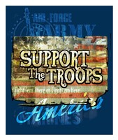 Support The Troops America Fine Art Print
