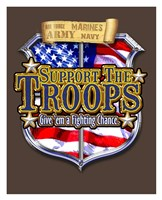"Support the Troops Badge by Jim Baldwin - 26"" x 32"", FulcrumGallery.com brand"