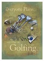 """Plan to Golf by Jim Baldwin - 27"""" x 37"""""""