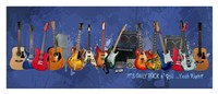 "Guitars - It's Only Rock n' Roll by Jim Baldwin - 37"" x 16"""
