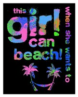 "This Girls Can Beach by Jim Baldwin - 26"" x 32"", FulcrumGallery.com brand"