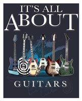 It's All about Guitars Framed Print