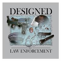 Designed For Law Enforcement Framed Print