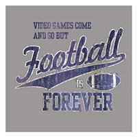 "Footbal Forever by Jim Baldwin - 26"" x 26"""