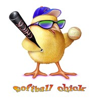 Softball Chick Fine Art Print