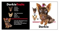 Dorkie Traits Fine Art Print
