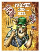 "Deer / Deer / Elk John by Jim Baldwin - 26"" x 34"""
