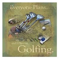 "Golfing by Jim Baldwin - 26"" x 26"", FulcrumGallery.com brand"